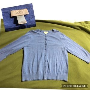 Loft dark blue cardigan XL like new